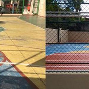Recuperação de piso de quadra poliesportiva