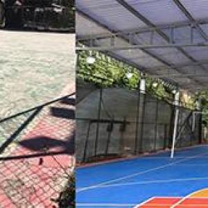 Reforma de quadras esportivas